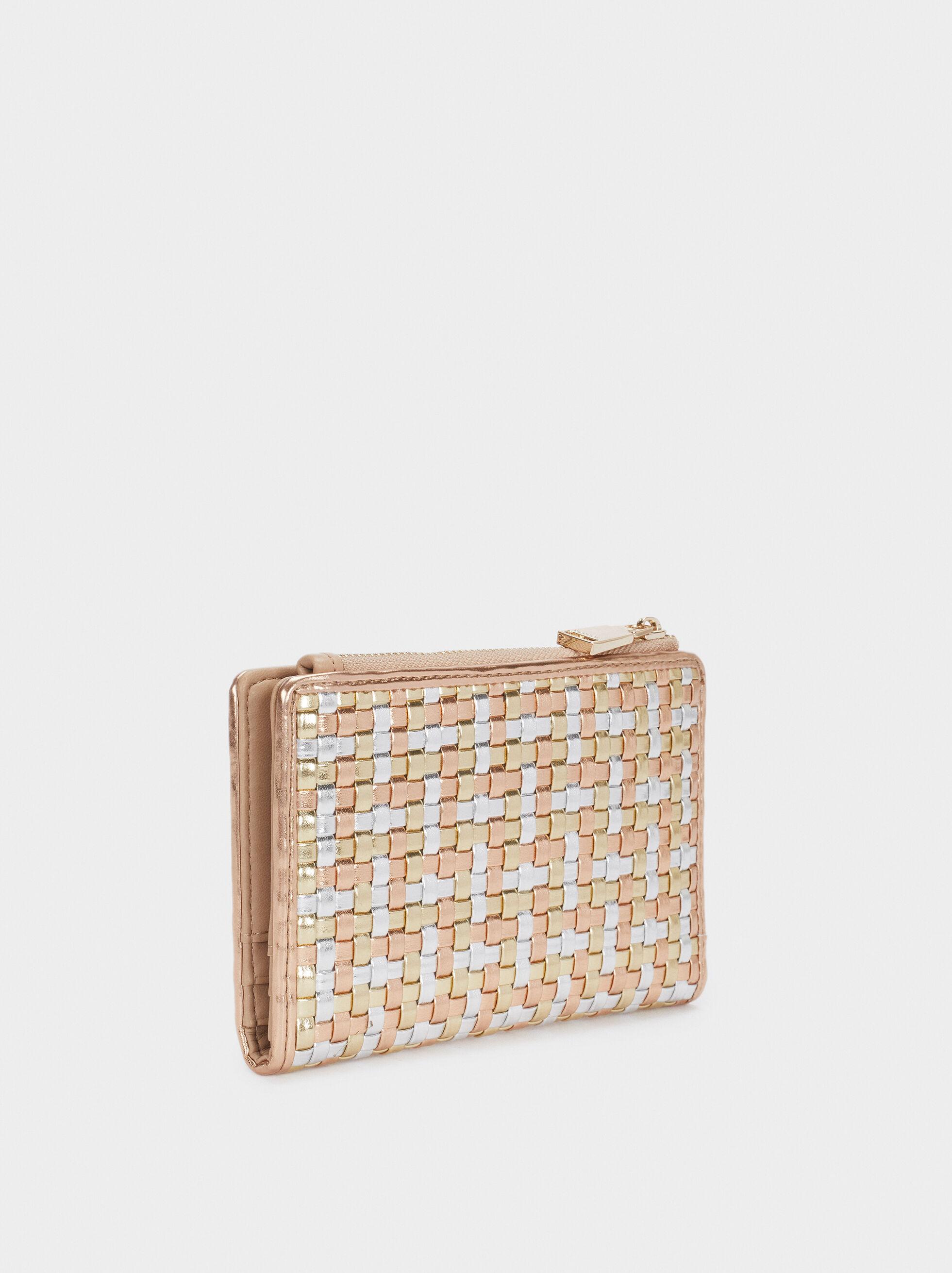 Braided Wallet, Golden, hi-res