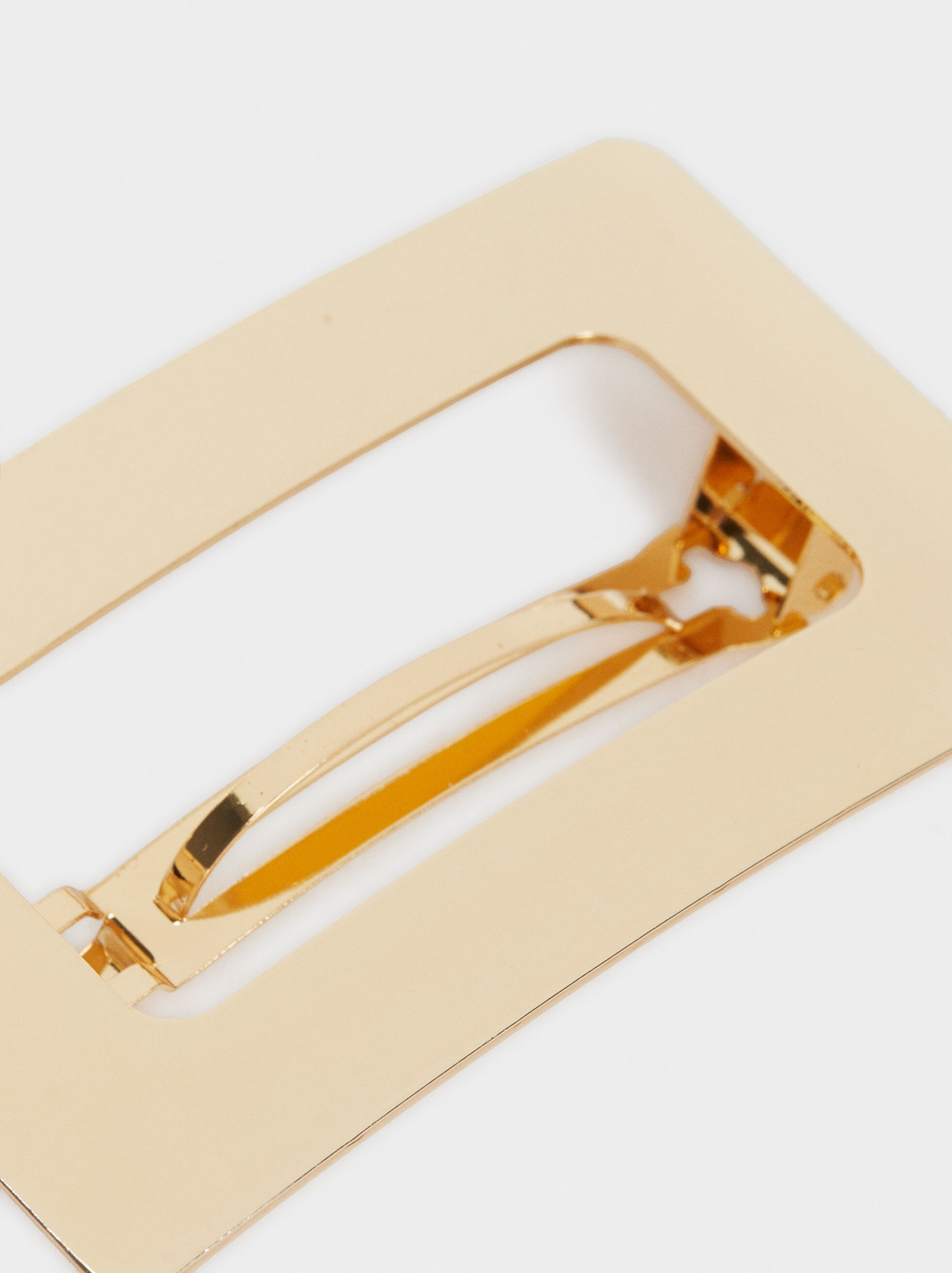 Gold Hair Clip, Golden, hi-res
