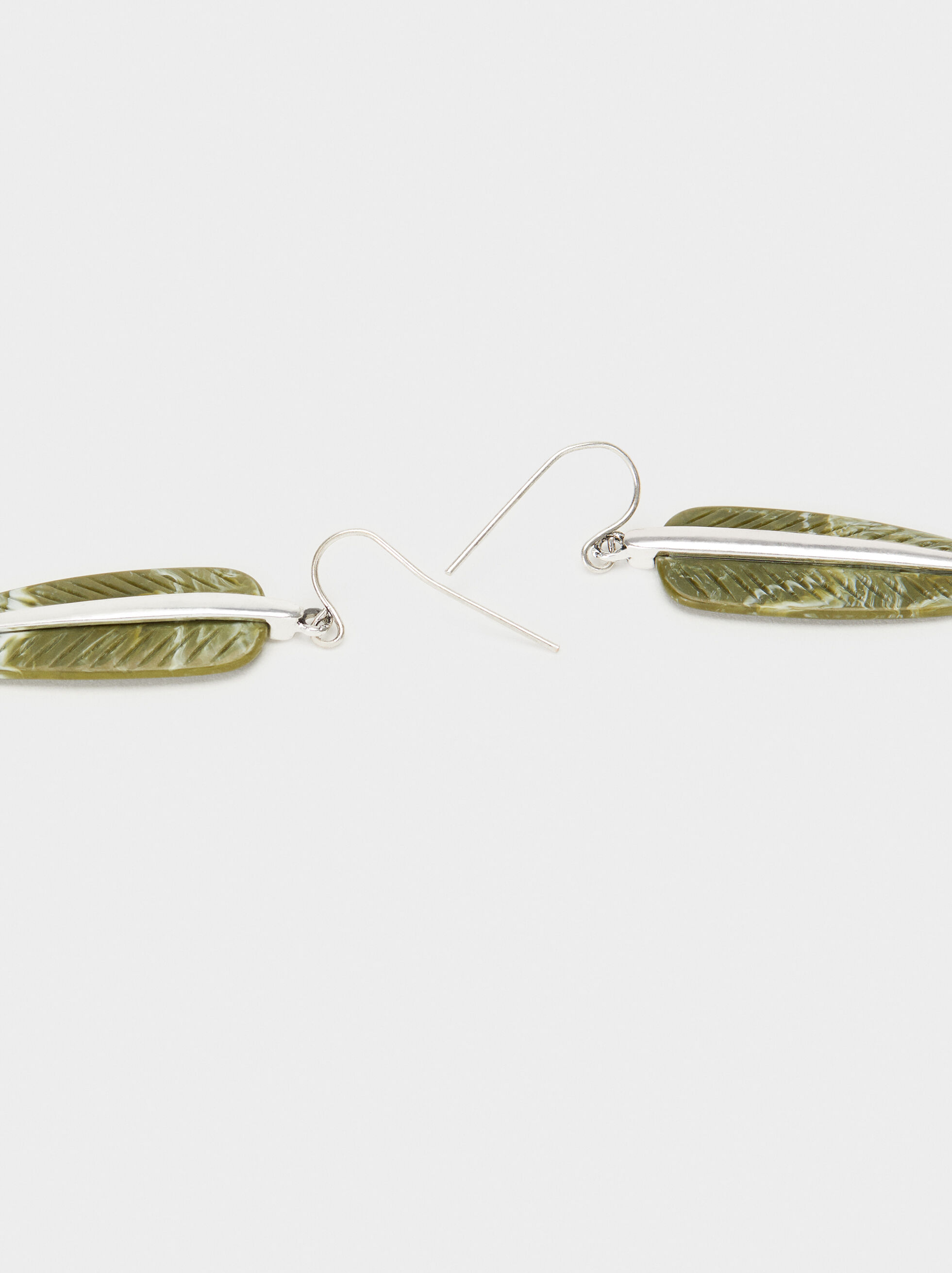 Star Valley Medium Earrings, Green, hi-res