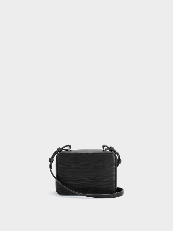 Shoulder Bag With Double Handle, Black, hi-res