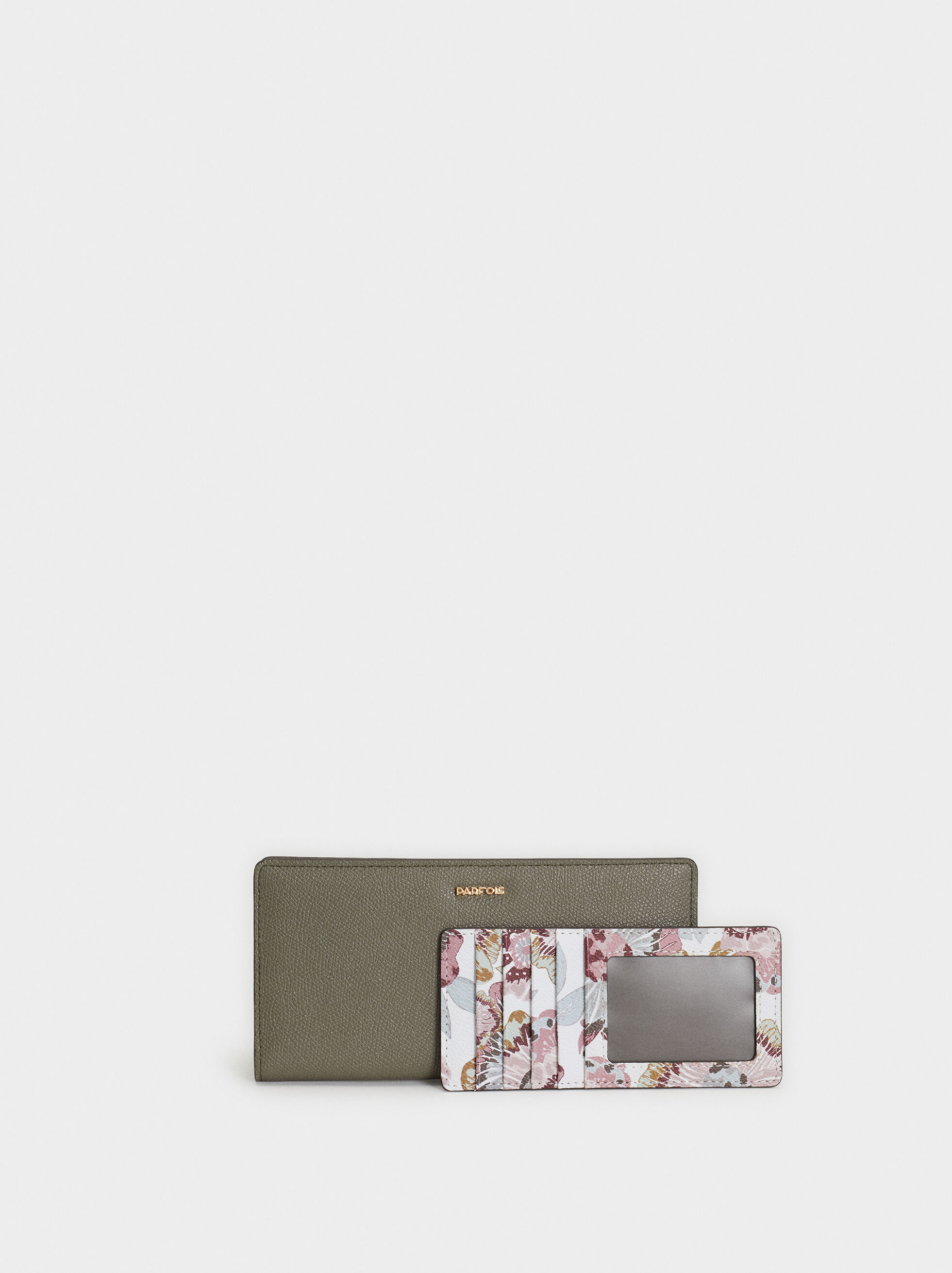 Plain Large Purse, Khaki, hi-res