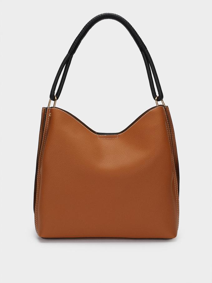 Shoulder Bag With Removable Interior, Camel, hi-res