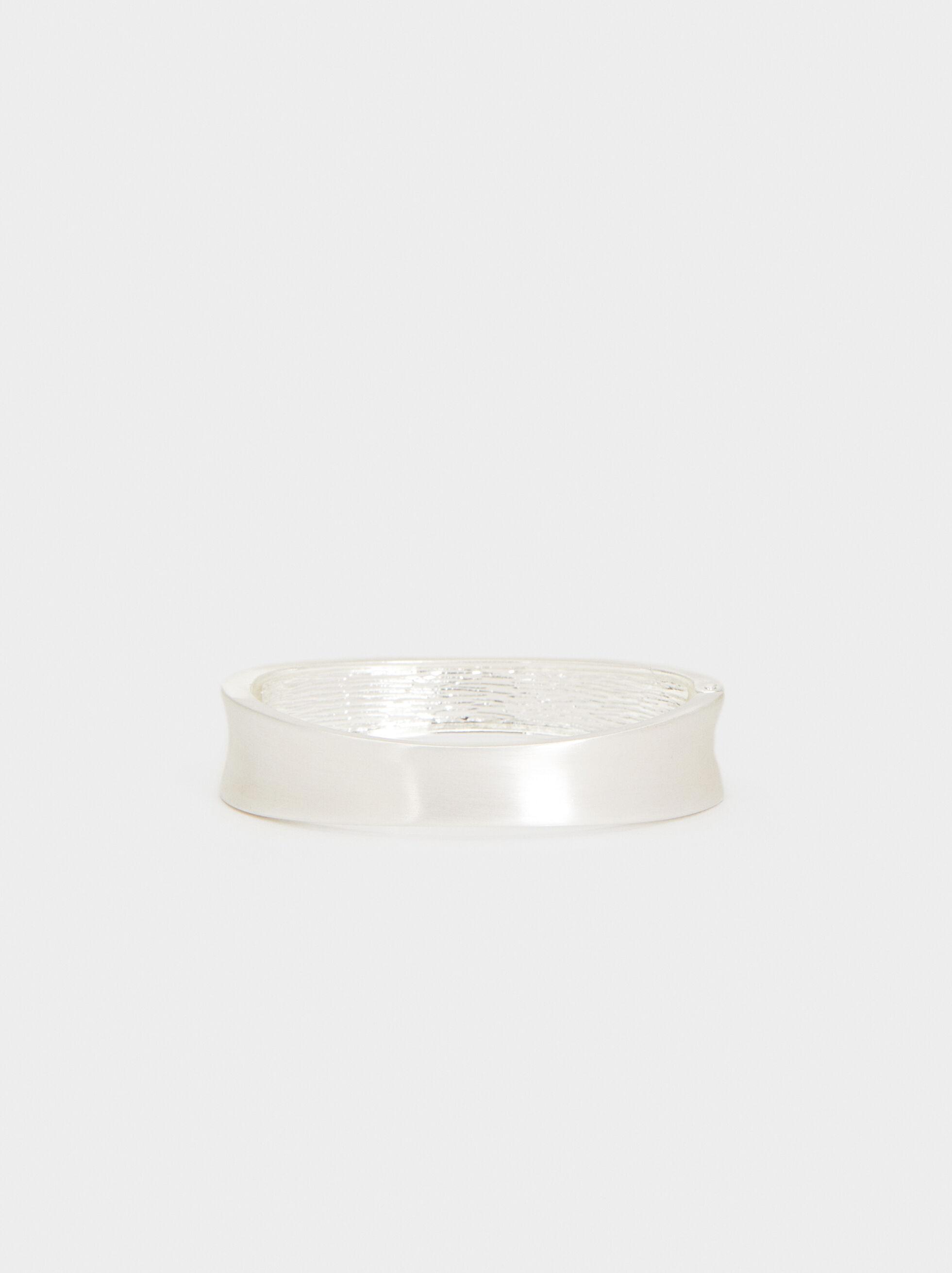 Rigid Bracelet, Silver, hi-res