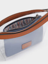Vinyl Toiletry Bag With Removable Bag, Blue, hi-res