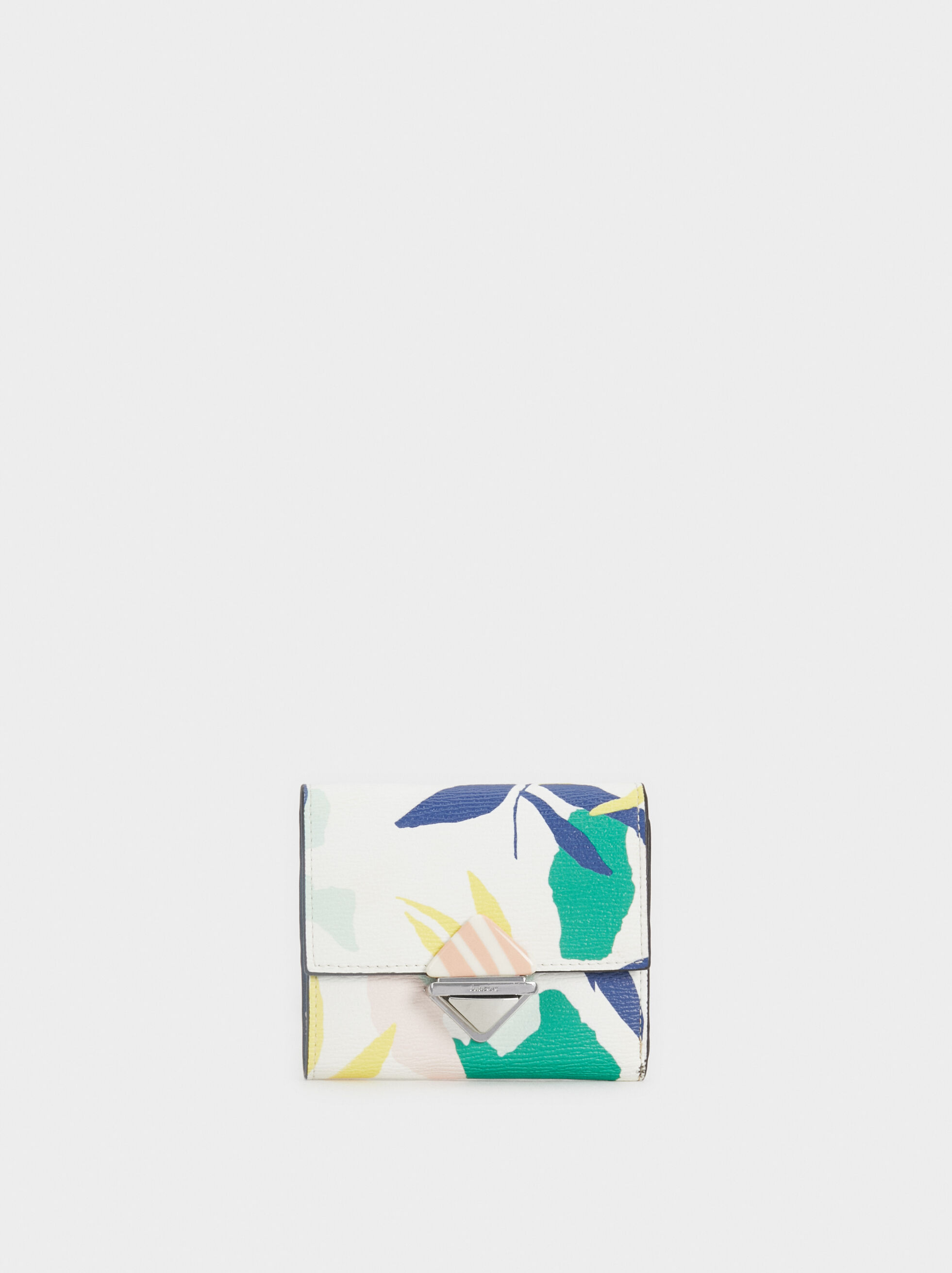 Small Floral Print Purse, Green, hi-res