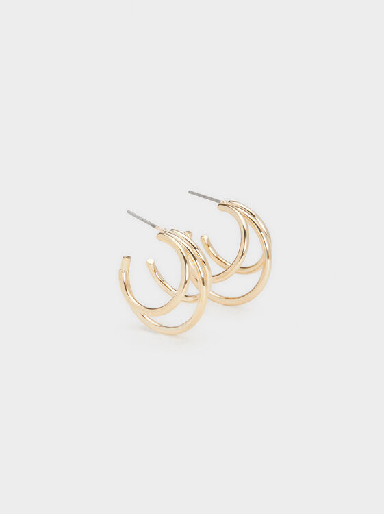 Hoop Fever Medium Triple-Hoop Earrings, , hi-res