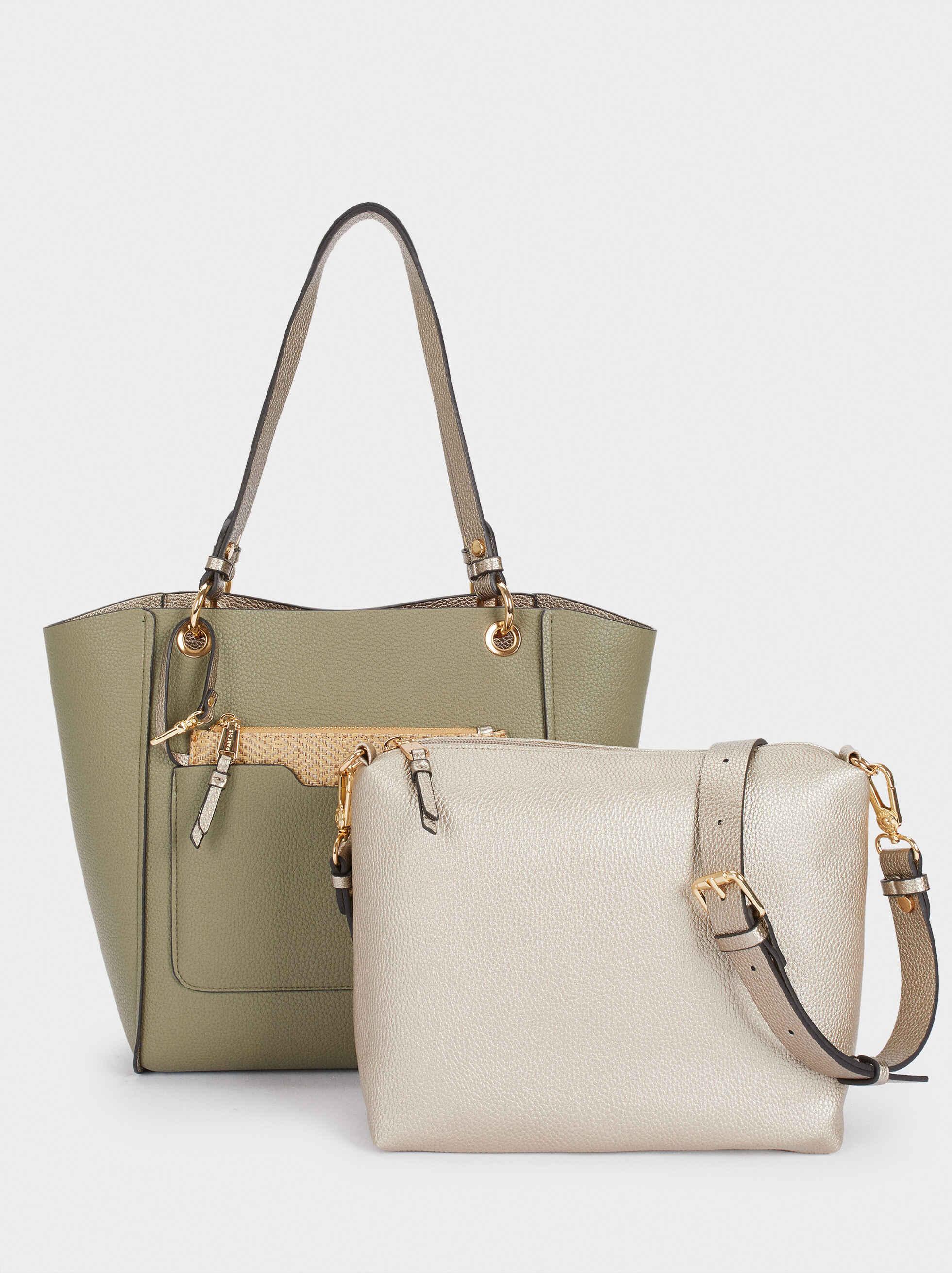 Bolso Shopper Reversible Con Interior Extraible - Negro - Mujer - Shoppers - parfois.com