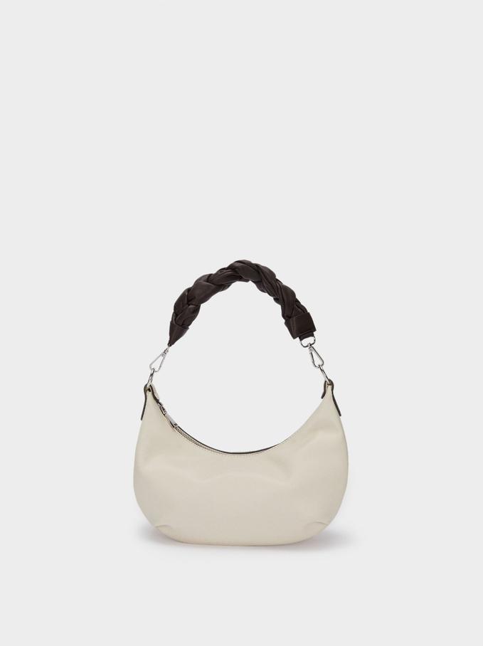 Crossbody Bag With Braided Handle, Ecru, hi-res