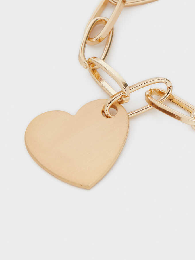 Gold Heart Bracelet, Golden, hi-res