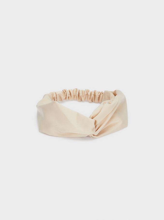 Turban-Style Headband, Beige, hi-res