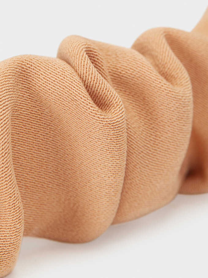 Plain Gathered Headband, Pink, hi-res