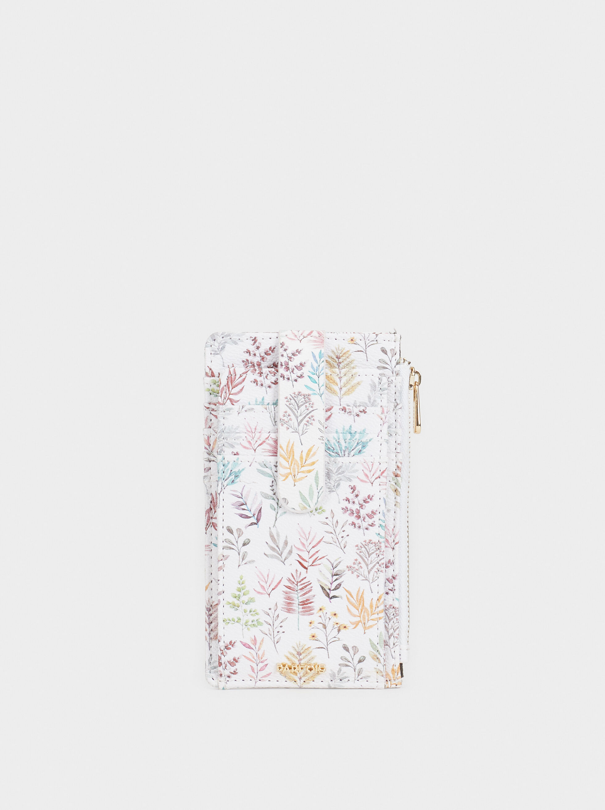 Large Floral Print Card Holder, Pink, hi-res