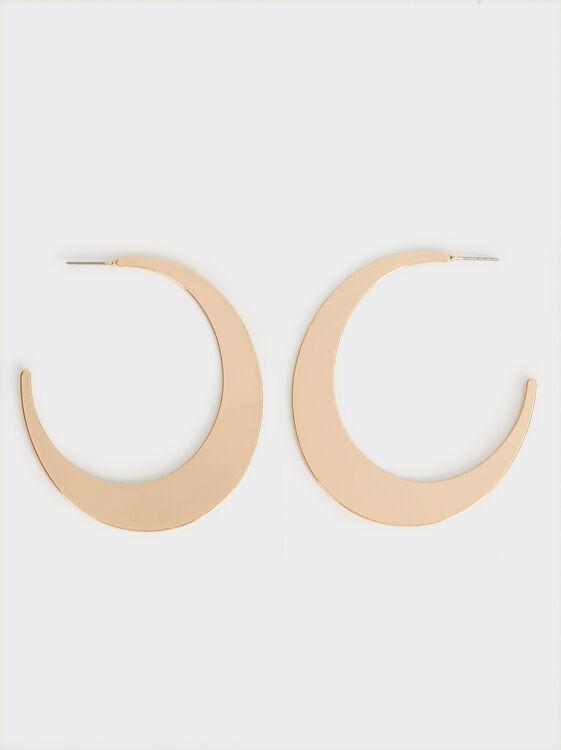 Hoop Fever Large Plain Hoop Earrings, , hi-res