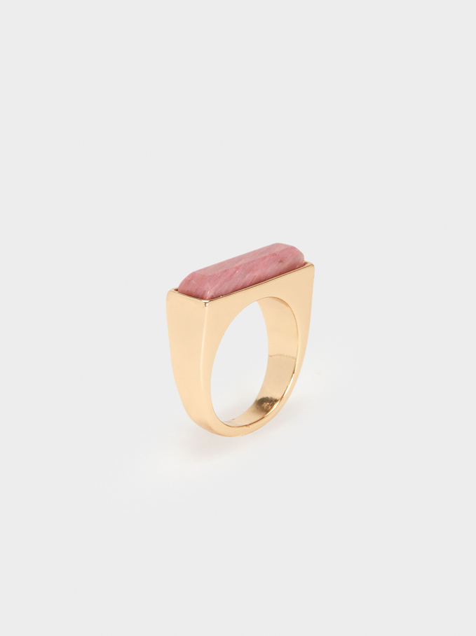 Petrified Ring, Pink, hi-res