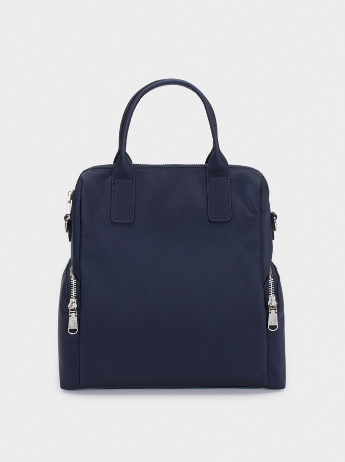 Multi-Way Backpack With Detachable Straps, Navy, hi-res