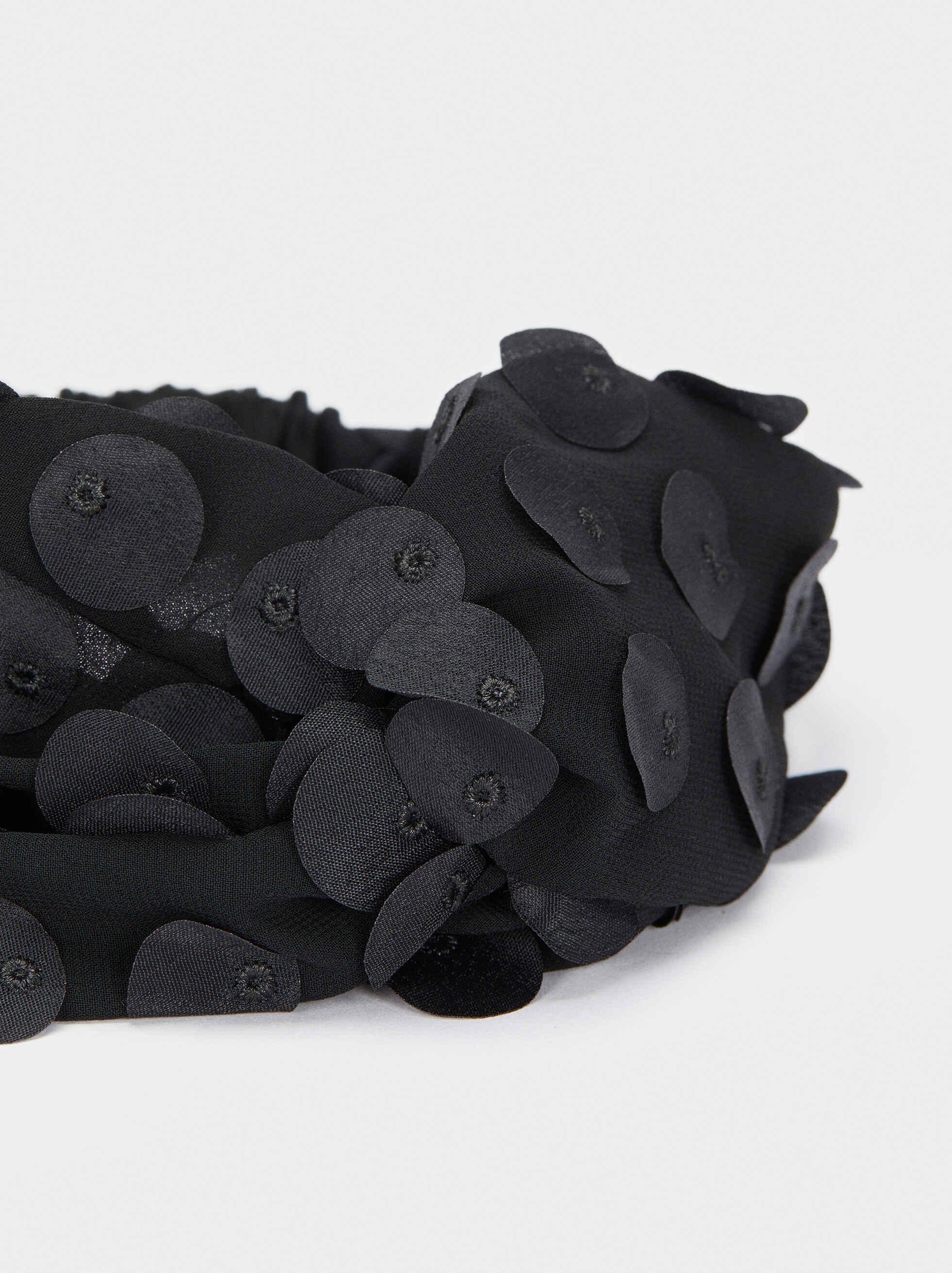 Diadema Turbante Abalorios, Negro, hi-res