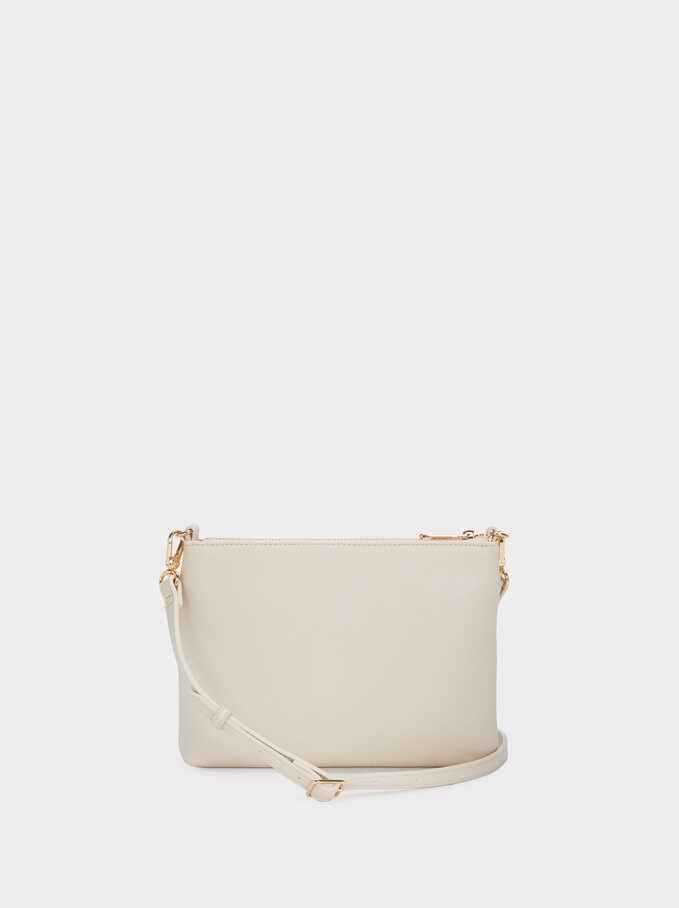 Braided Crossbody Bag, Beige, hi-res