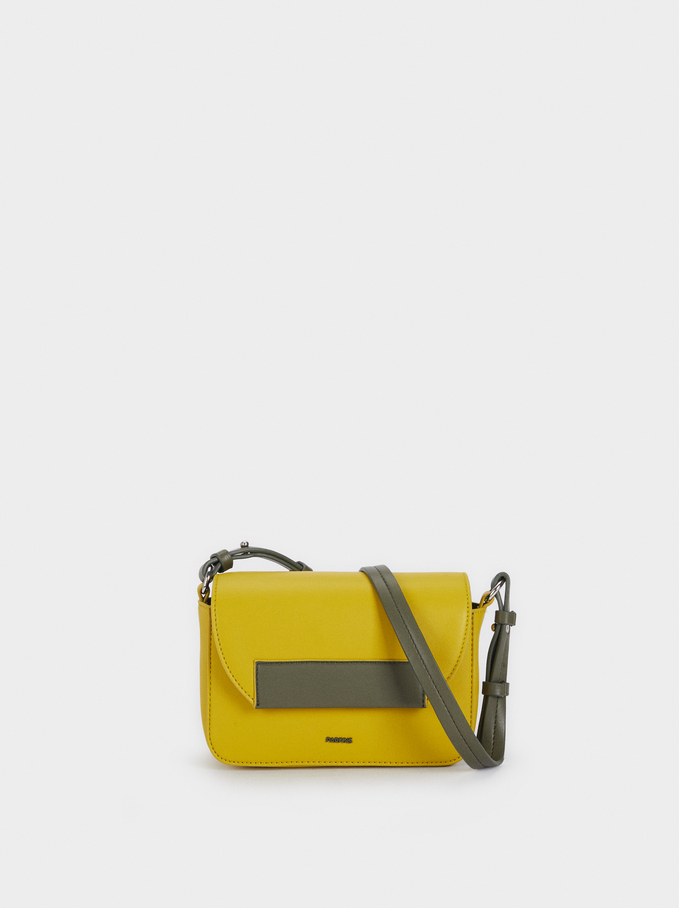 Crossbody Bag With Removable Lining, Yellow, hi-res