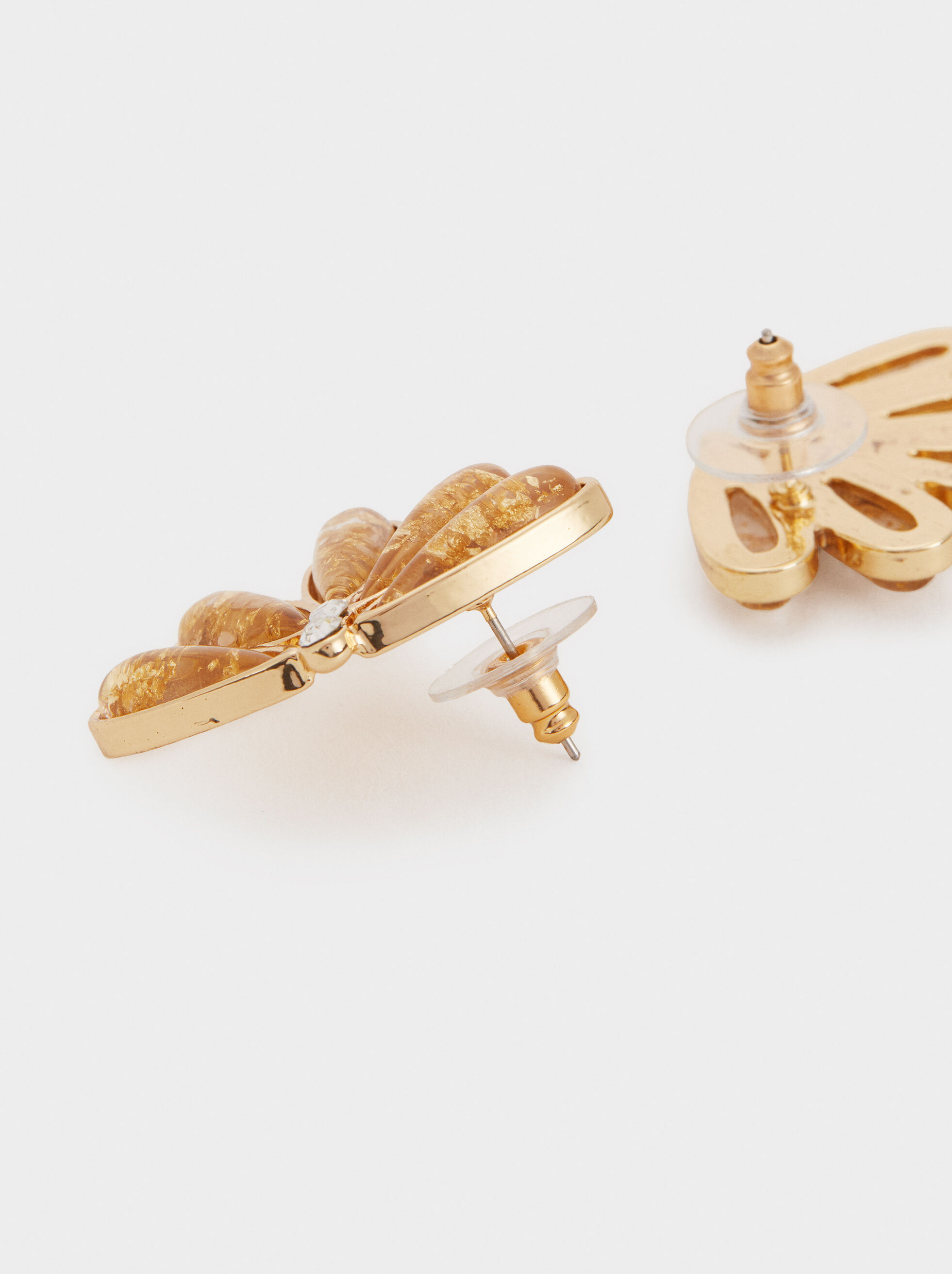 Exclusive Collection Short Earrings, Golden, hi-res