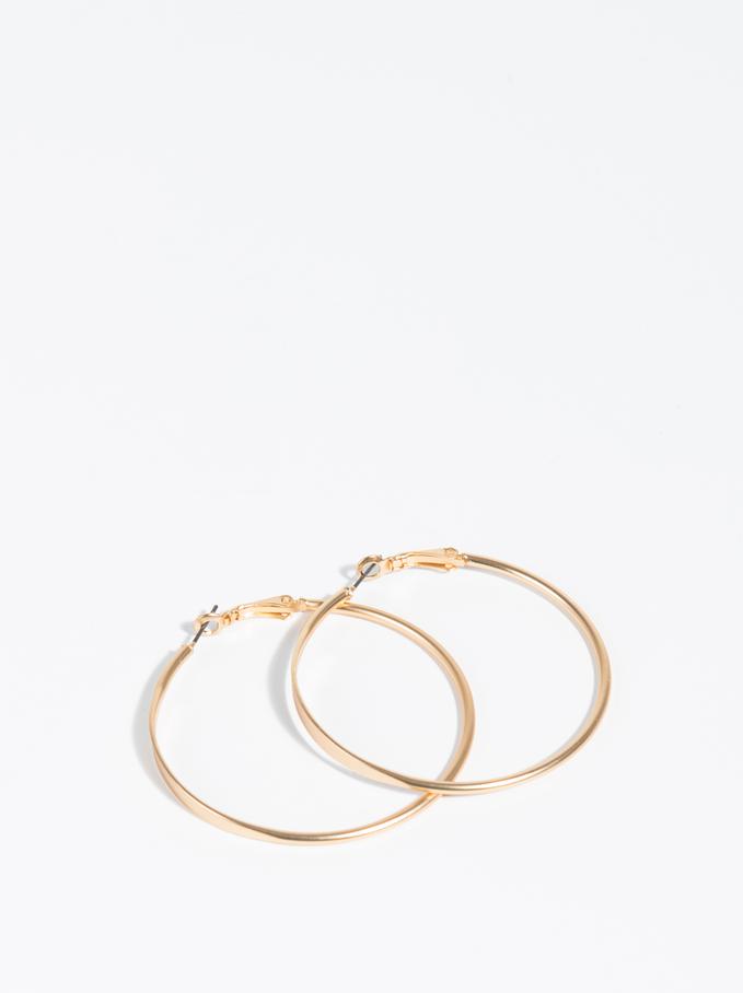 Aros Grandes Golden Basics, Dorado, hi-res
