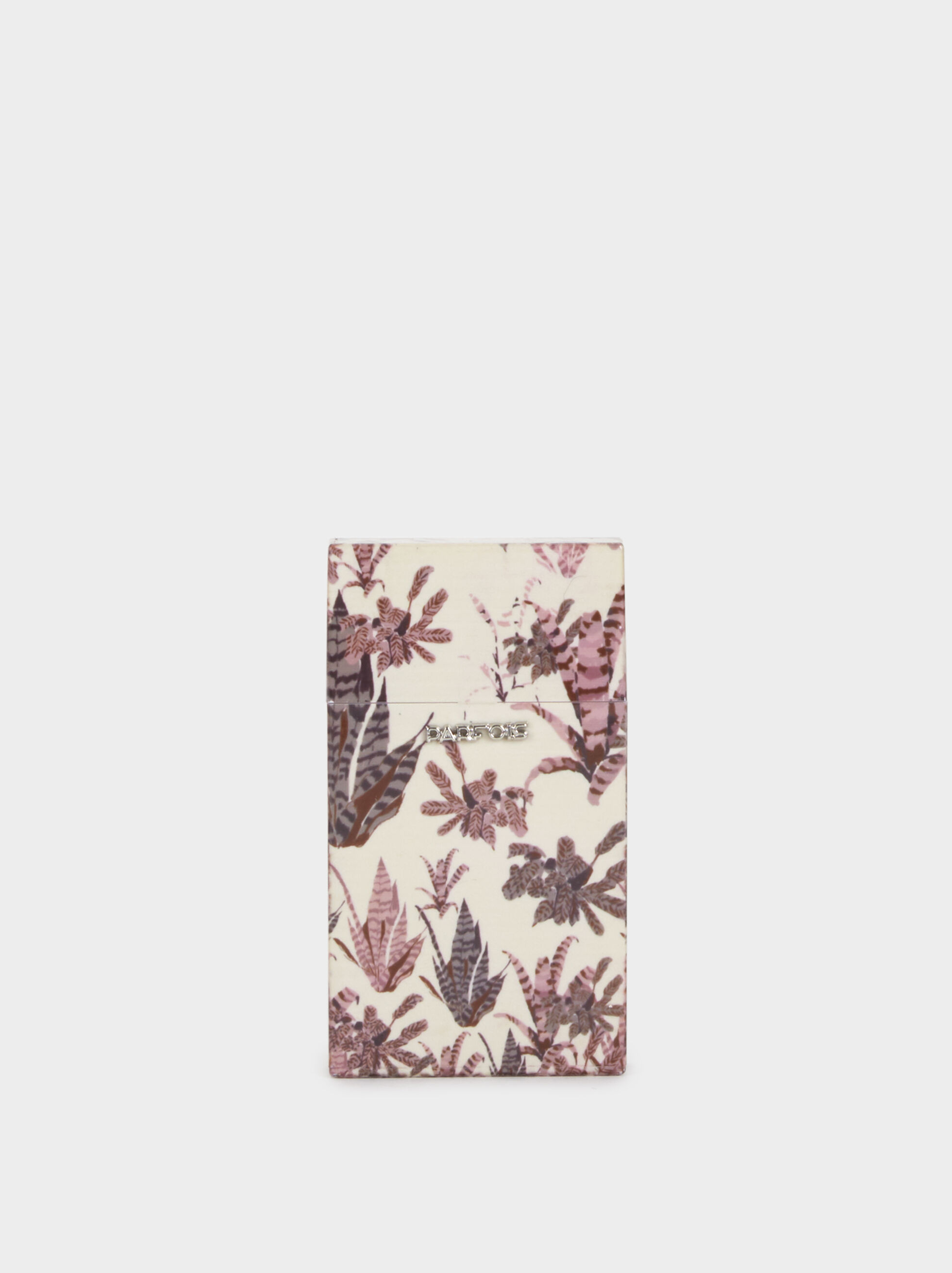Floral Print Slim Cigarette Box, Pink, hi-res