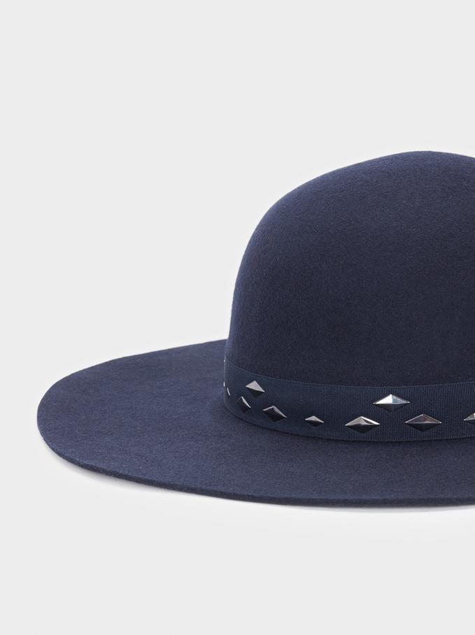 Chapéu De Lã, Azul Marinho, hi-res
