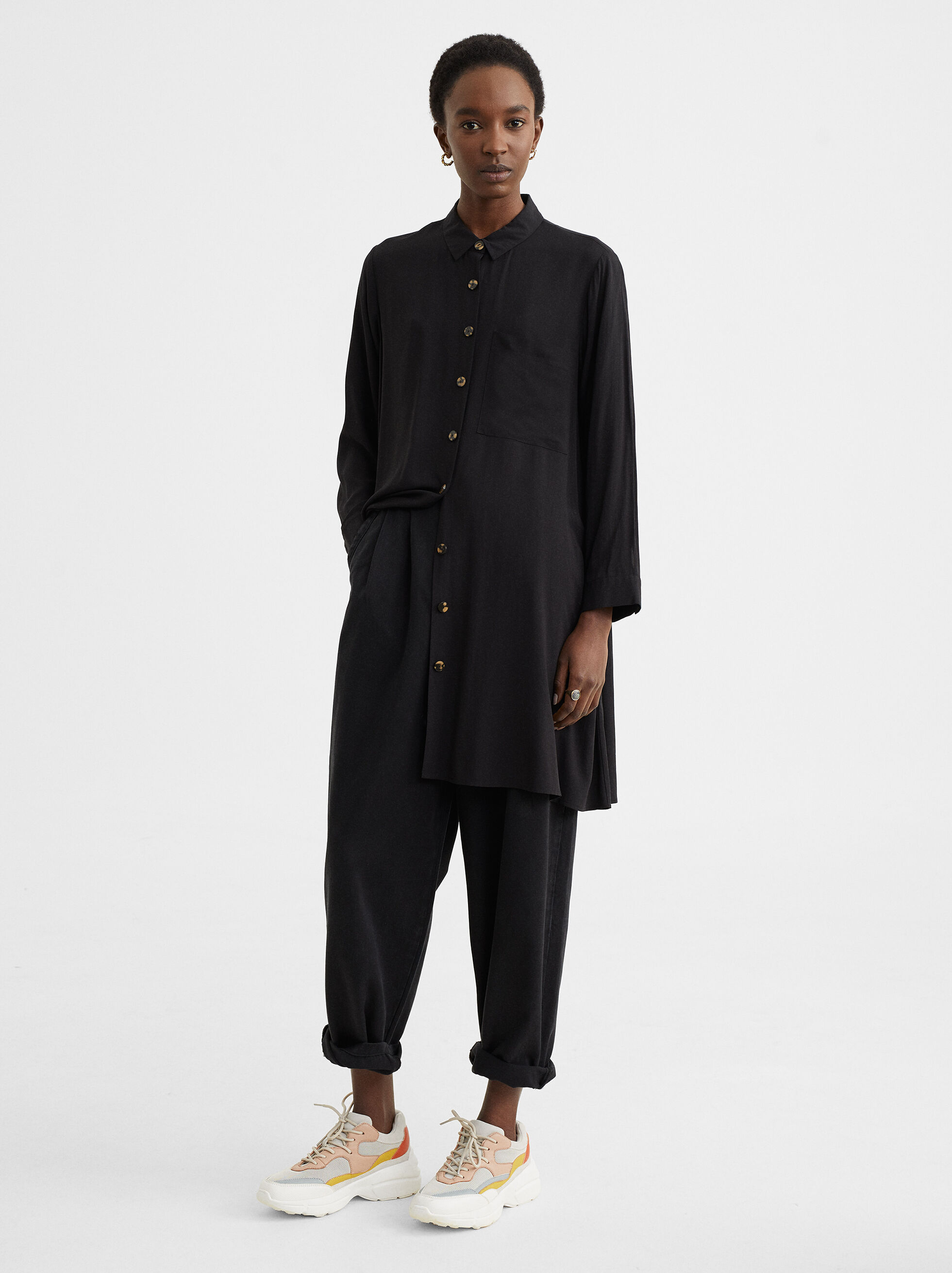 Shirt Dress With Pocket, , hi-res