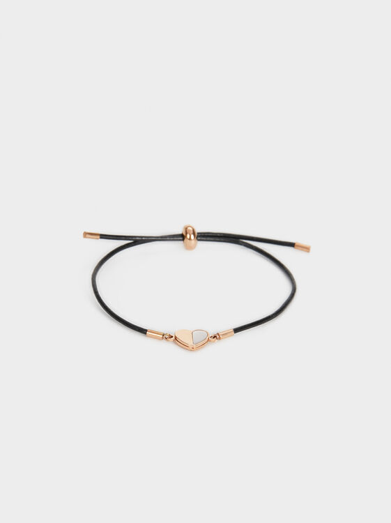 Steel Heart Bracelet, Orange, hi-res