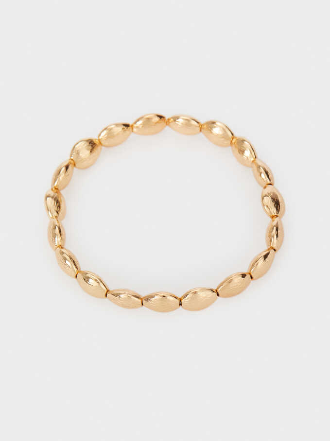 Gold Elastic Bracelet , Golden, hi-res