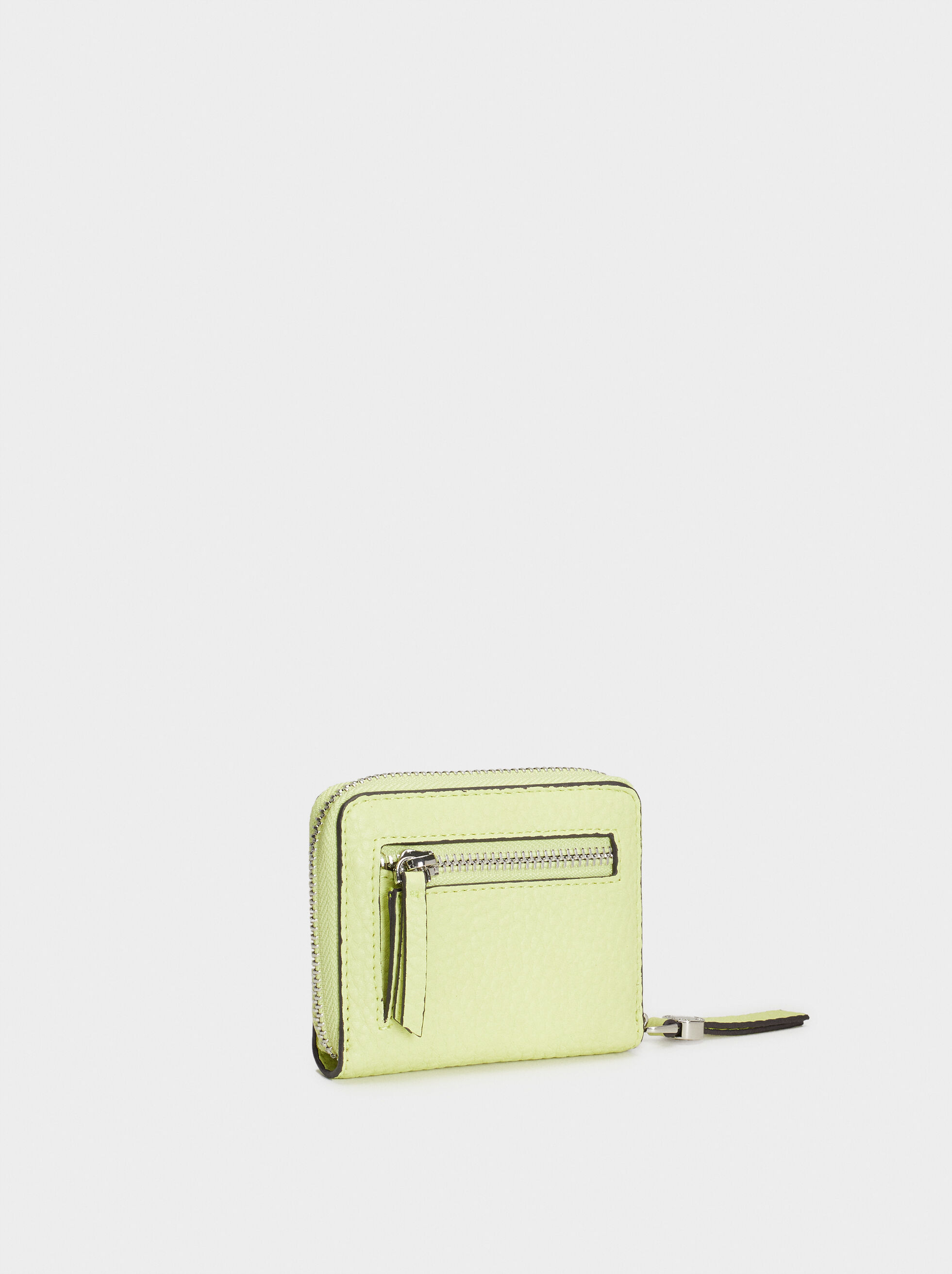 Medium Textured Card Holder, Yellow, hi-res