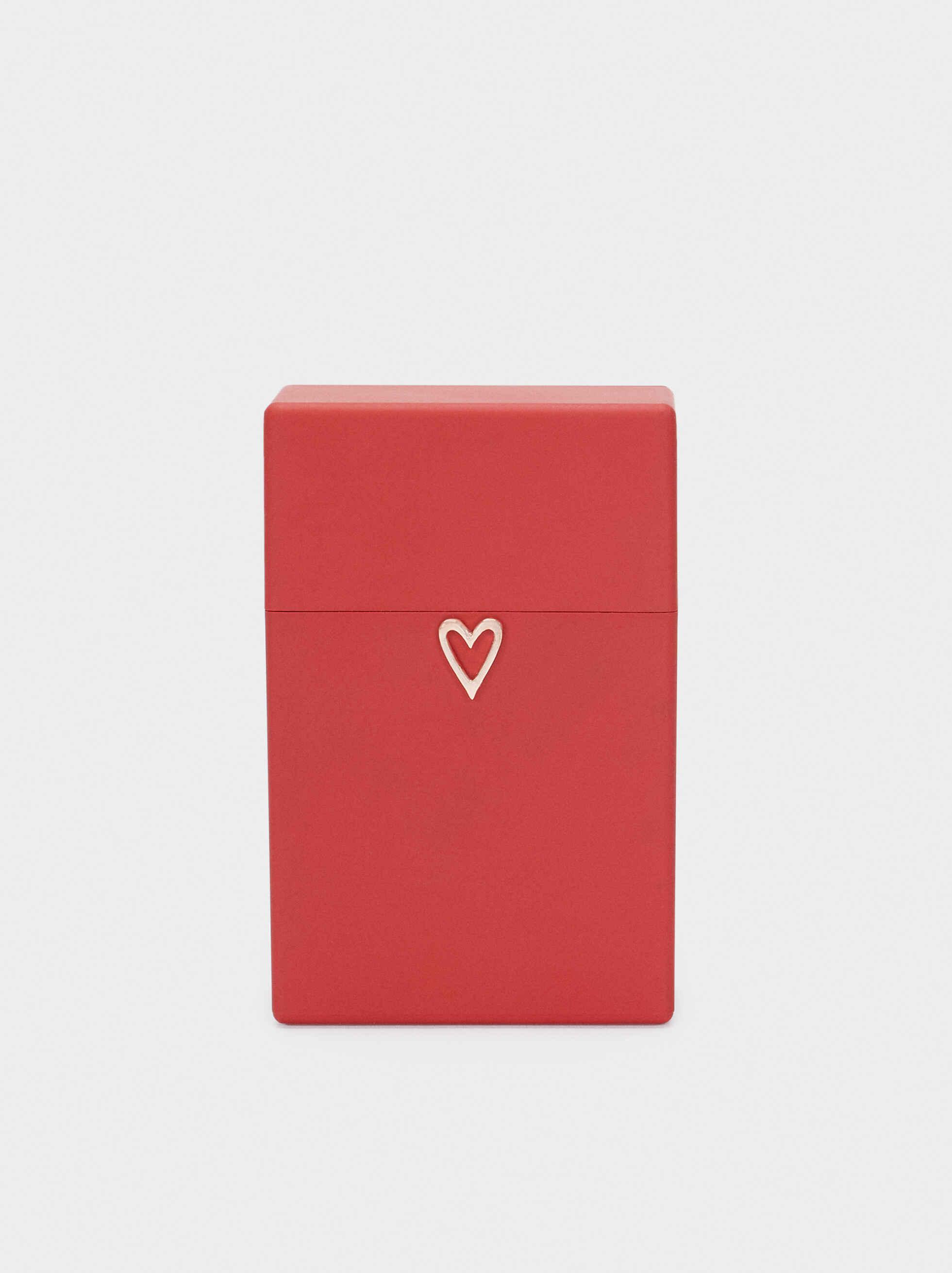 Pitillera Corazón, Rojo, hi-res