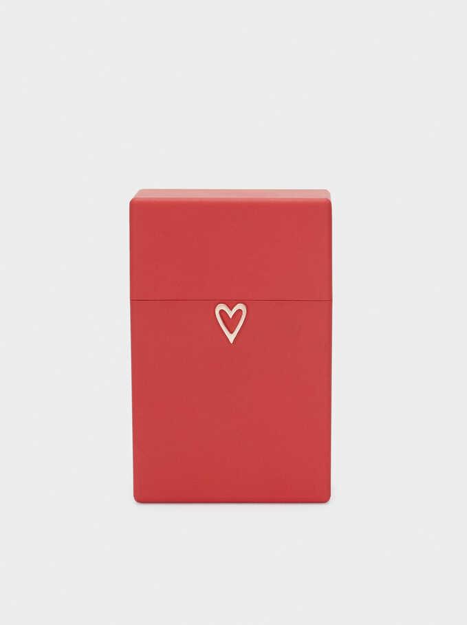 Caja De Mascarilla Corazón, Rojo, hi-res