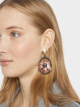 Savage Party Long Earrings, Multicolor, hi-res