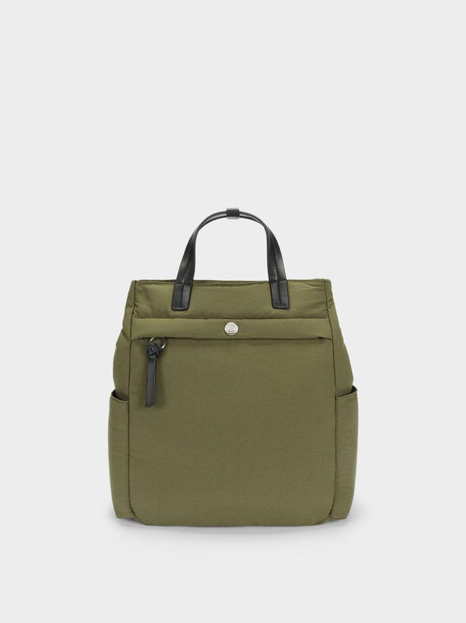 Plecak Z Nylonu Z Materialów Z Recyklingu, Khaki, hi-res