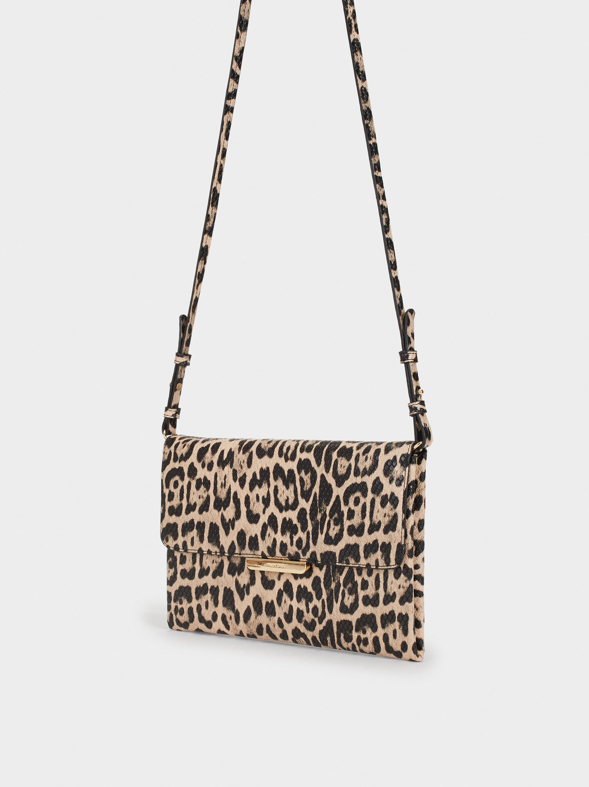 Animal Embossing Party Clutch, Beige, hi-res