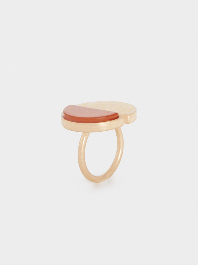 Ring With Stone, Camel, hi-res