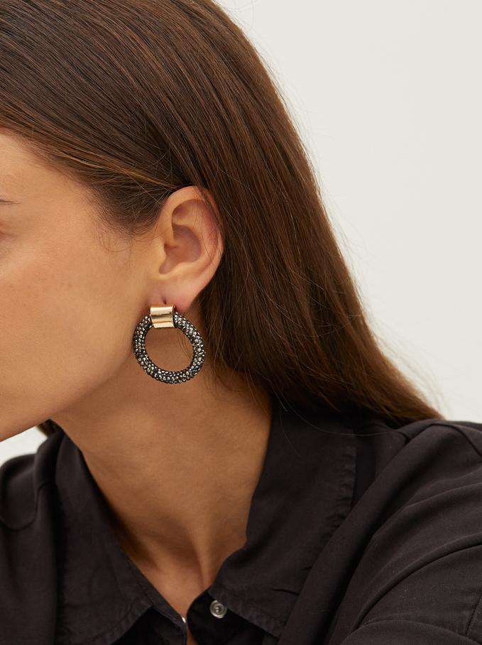 Crystals Earrings, Multicolor, hi-res