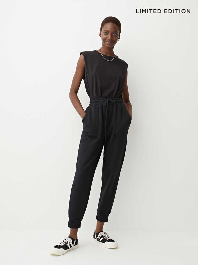 Pantalon Jogger Coton Limited Edition, Noir, hi-res