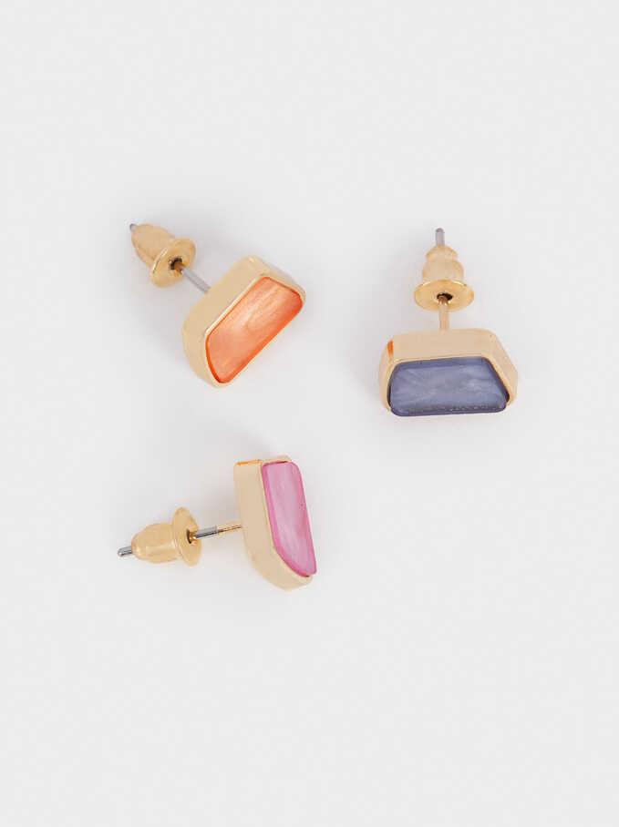 Conjunto De Pendientes Multicolor, Multicor, hi-res