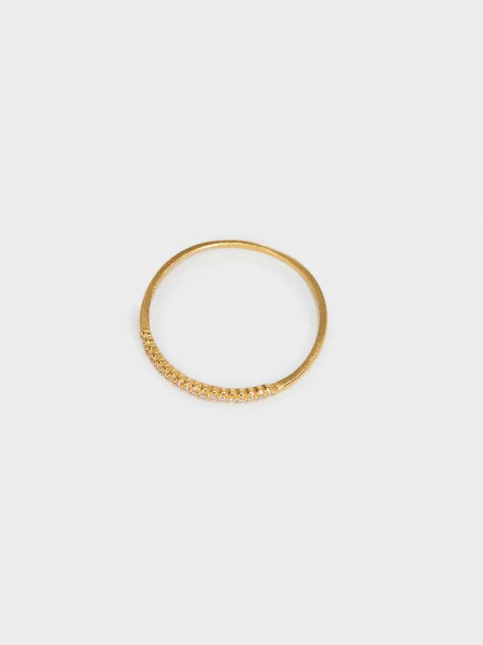 925 Sterling Silver Ring, Golden, hi-res