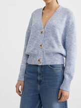 Mottled Knit Cardigan, , hi-res