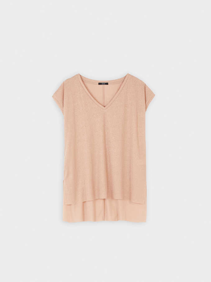 Sleeveless Top With A V-Neckline, Orange, hi-res
