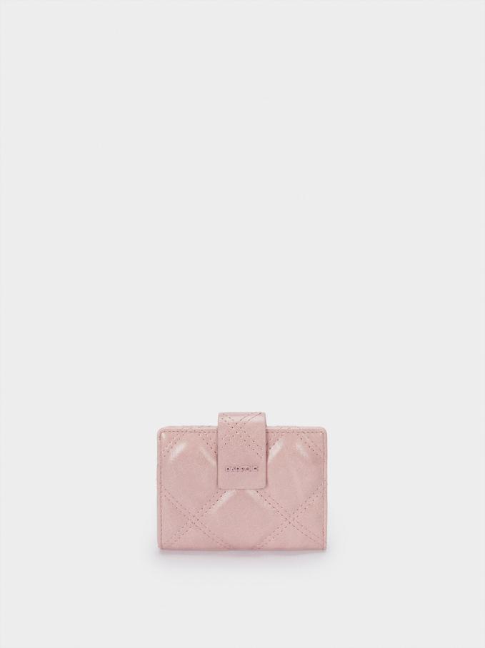 Detachable Compact Purse, Pink, hi-res