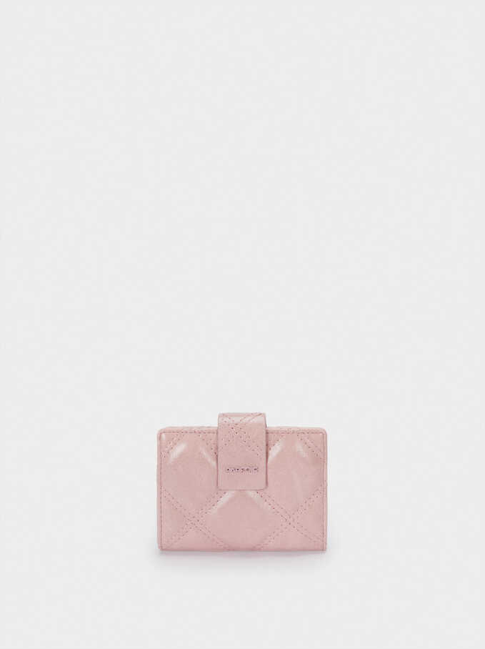 Detachable Compact Purse, Pink, hi-res