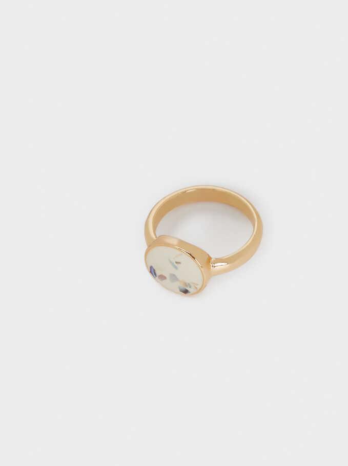 Seashell Ring, Beige, hi-res