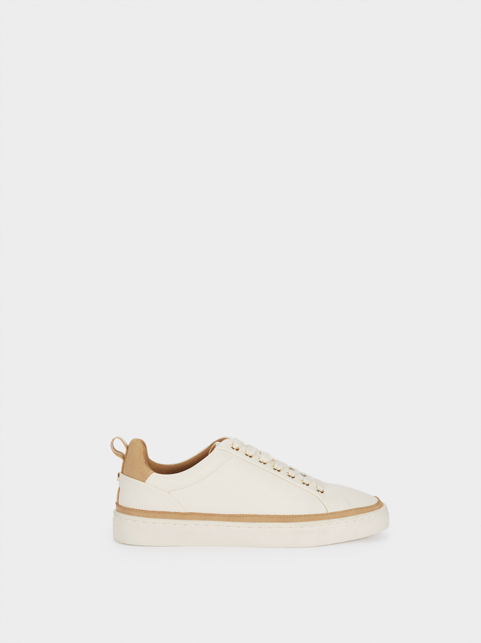 Trainers With Contrast Detailing, White, hi-res