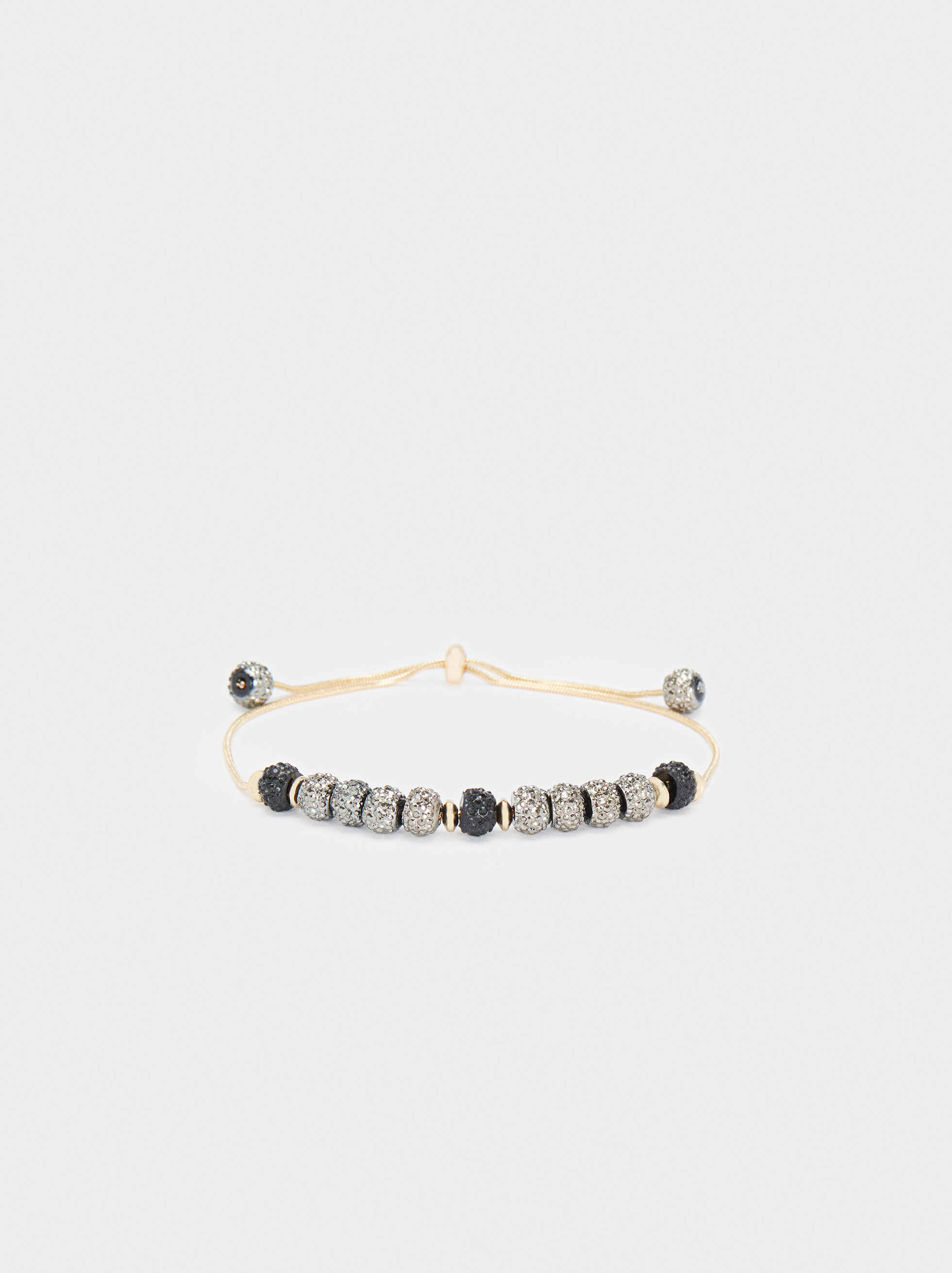 Adjustable Bracelet With Beads, Multicolor, hi-res