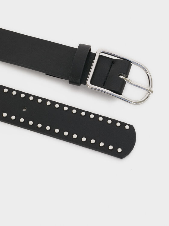 Studded Belt, Black, hi-res