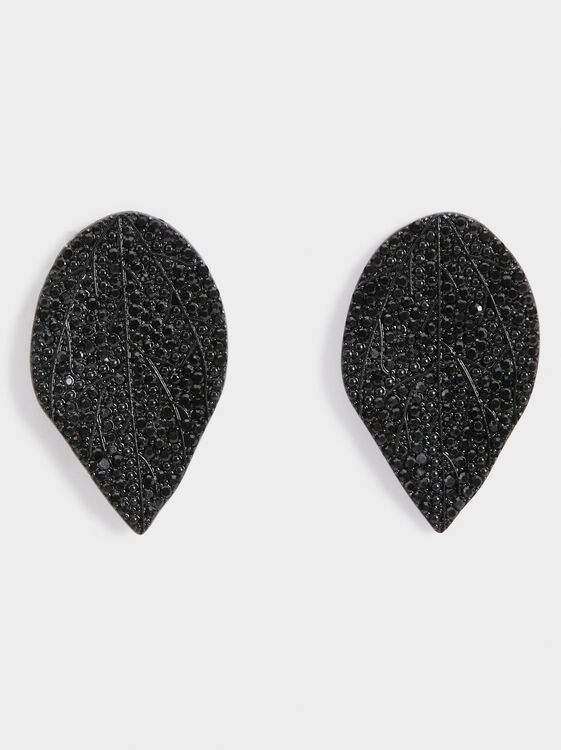 Star Dust Earrings, Black, hi-res