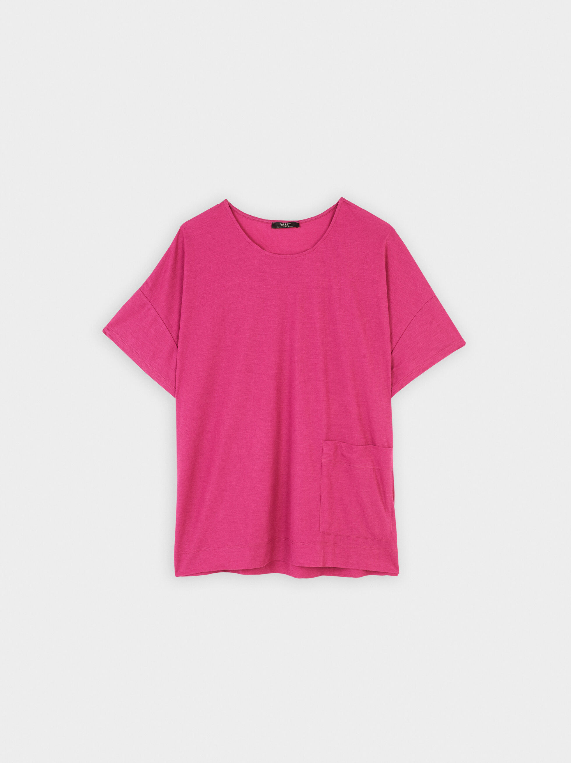 T-Shirt Basic Collo Rotondo, Rosa, hi-res